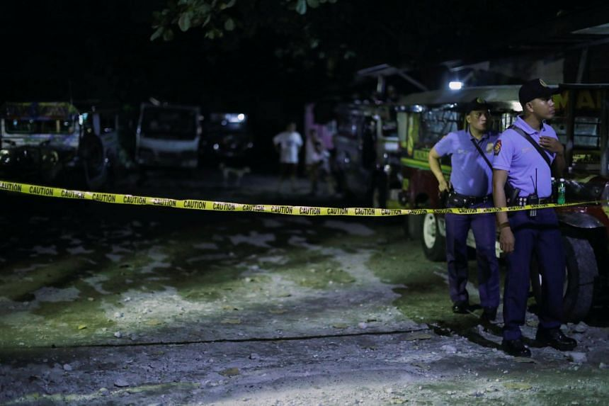 Police cordon off an area where a man was killed during a police anti-drug operation in Caloocan city, Metro Manila, the Philippines, on Aug 17, 2017.