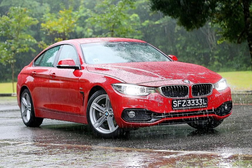 The BMW 420i Gran Coupe is agile and offers excellent ride quality.