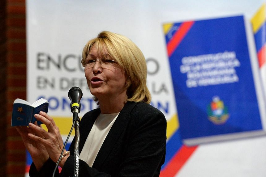 Venezuela's dismissed chief prosecutor LuisaOrtega, one of President Nicolas Maduro's most vocal critics, speaking during at a forum held by the opposition in Caracas, on Aug 6, 2017.