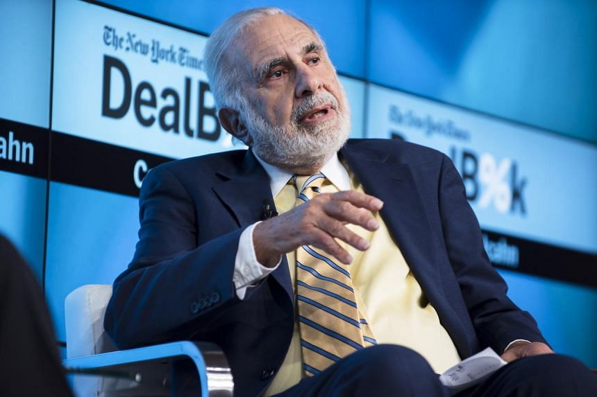 Carl Icahn speaks during The New York Times' DealBook Conference in New York, on Nov 3, 2015.