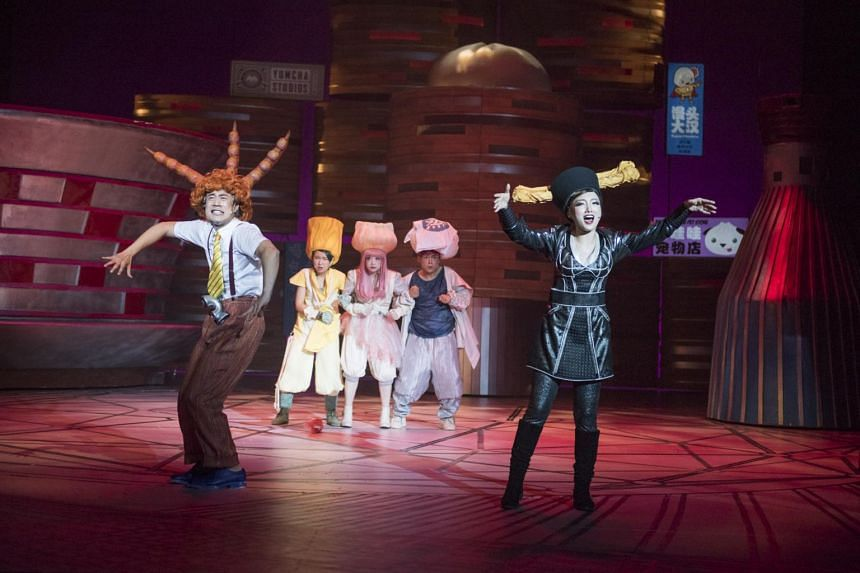 A scene from Dim Sum Warriors, a family musical based on the graphic novel by Singaporeans Colin Goh and Woo Yen Yen.