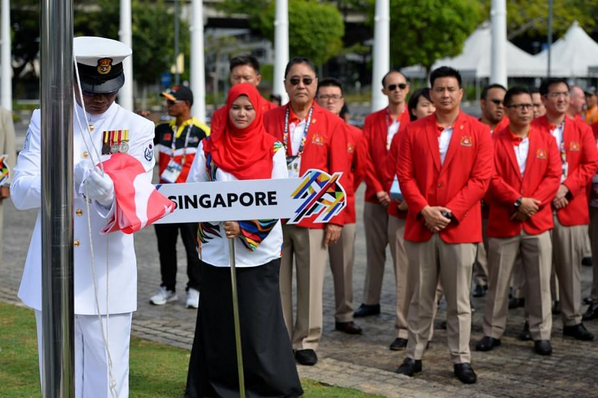 Singapore Contingent at the 29th SEA Games at the Bukit Jalil Stadium in Kuala Lumpur.