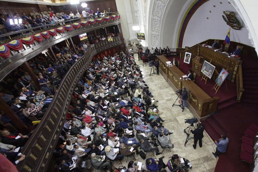 A handout photograph made available by Agencia Venezolana de Noticia (AVN) shows a hearing of the Constituent National Assembly in Caracas, Venezuela, on Aug 18, 2017.