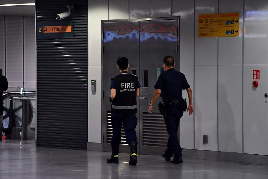 The fire alarm in Botanic Gardens MRT station was triggered by an overheated electrical box that emitted smoke.