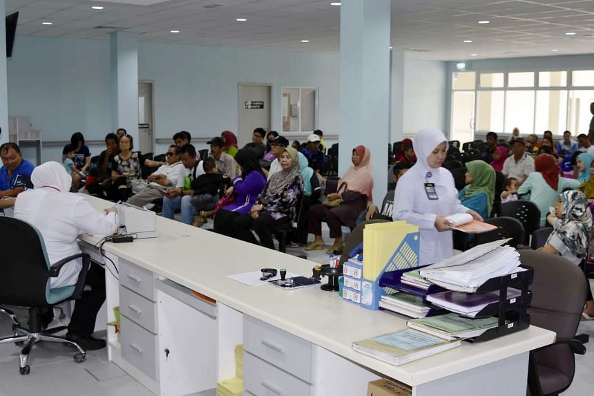 A clinic in Tawau, Sabah, which had to take in patients from the outpatient department of Tawau Hospital. The number of patients at that department had hit over 600 a day and the hospital was unable to cope.