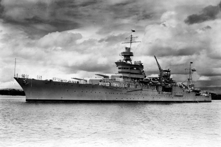 The USS Indianapolis in Pearl Harbor, USA, in 1937.