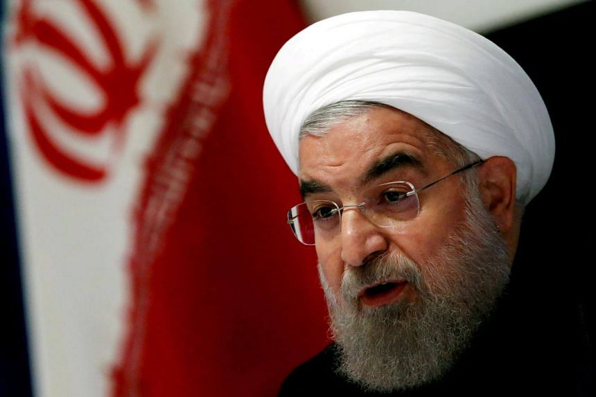 Iranian President Hassan Rouhani taking part in a news conference near the United Nations General Assembly in New York, on Sept 22, 2016.