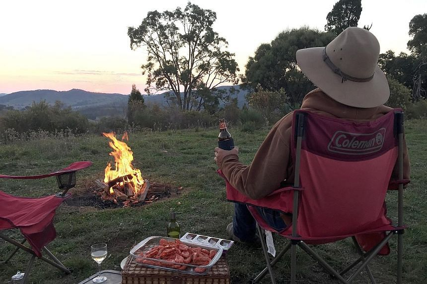 Youcamp offers about 5,000 campsites on 400 different properties across the country, such as these. For as little as A$15 (S$16) a night, visitors can camp on farm land with tents or camper vans, with private access to as much as 40ha of land. Some s