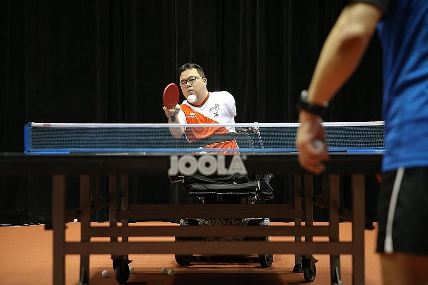 Mr Jason Chee, a national para-table tennis player, is raring to go in the Asean Para Games next month in Kuala Lumpur.