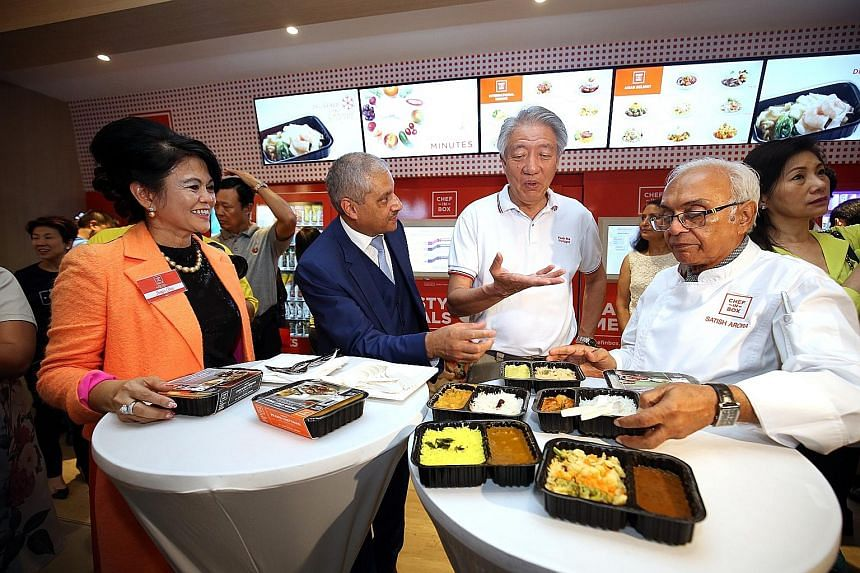 Pasir Ris residents can soon eat the butter chicken dish declared by Queen Elizabeth II to be the best rendition she'd ever had in 1983. The chef who prepared her meal then, India's Satish Arora (at right), has produced six dishes for the Chef-In-Box