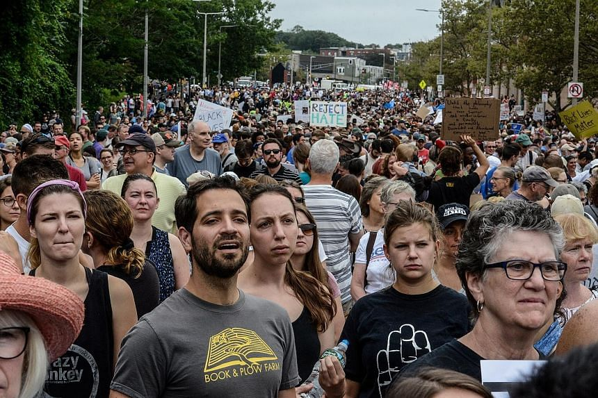 While hundreds were due at the free speech rally yesterday, thousands were expected at a counter-protest.