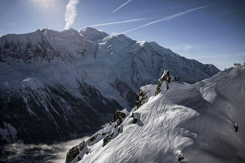 A 2016 file photo shows the Mont Blanc mountain in Chamonix.