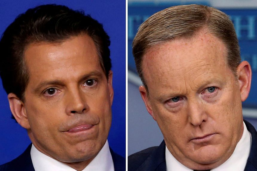 ANTHONY SCARAMUCCI (LEFT) AND SEAN SPICER (RIGHT).