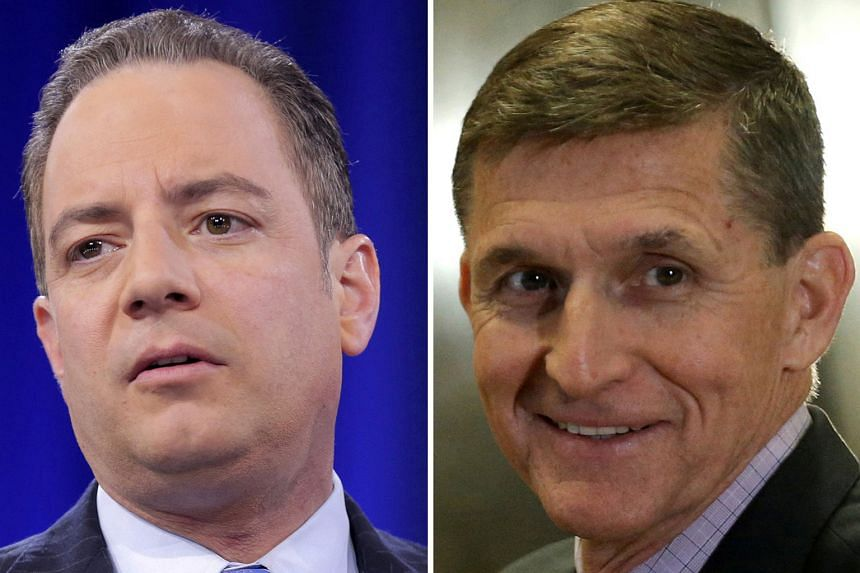 REINCE PRIEBUS (LEFT) AND MICHAEL FLYNN (RIGHT).