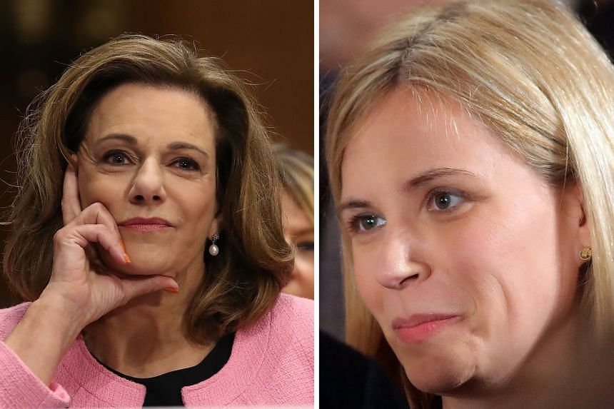 K. T. MCFARLAND (LEFT) AND KATIE WALSH (RIGHT).