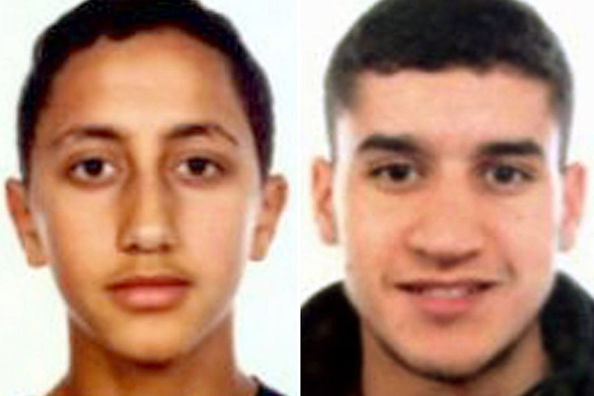 From left: Moussa Oukabir, Younes Abouyaaqoub, Said Aallaa and Mohamed Hychami. They were aged 17 to 24. Younes allegedly drove a white van down a promenade popular with tourists in Barcelona.