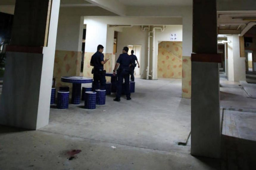 A 39-year-old man fell from the second floor of a Hougang block on Sunday (Aug 20) evening.