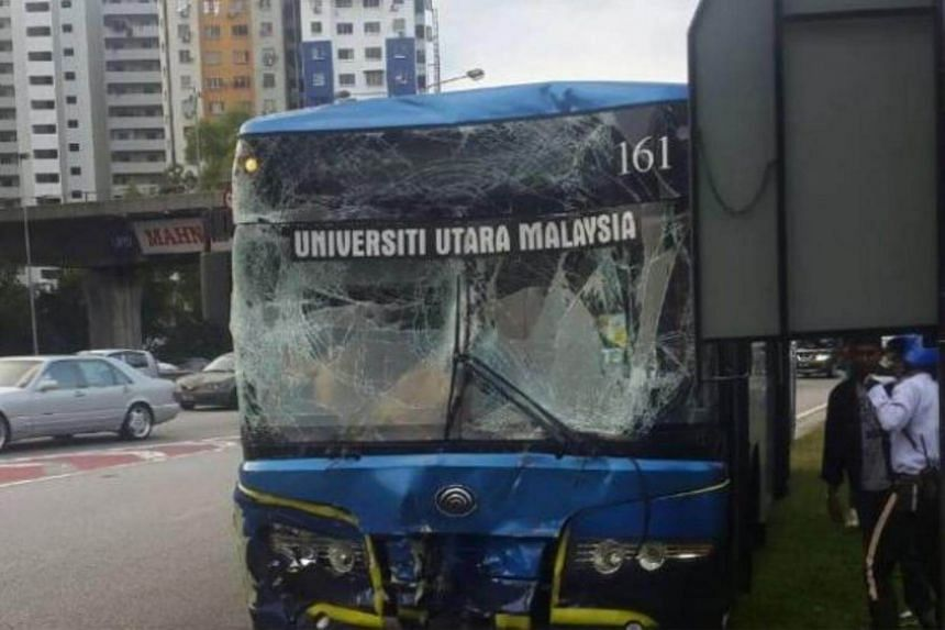 The players from Myanmar, Thailand and the Philippines were on their way to the National Squash Centre in Bukit Jalil from their hotel in Putrajaya when their buses collided.