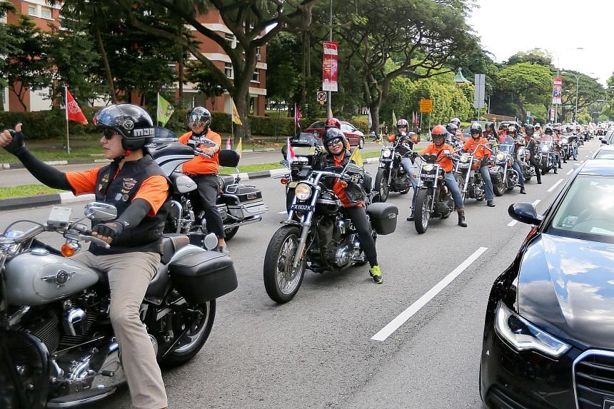 The convoy of 120 motorbikes travelled over 50km around the island to mark 50 years of bilateral relations. The ride also raised funds for disaster relief.