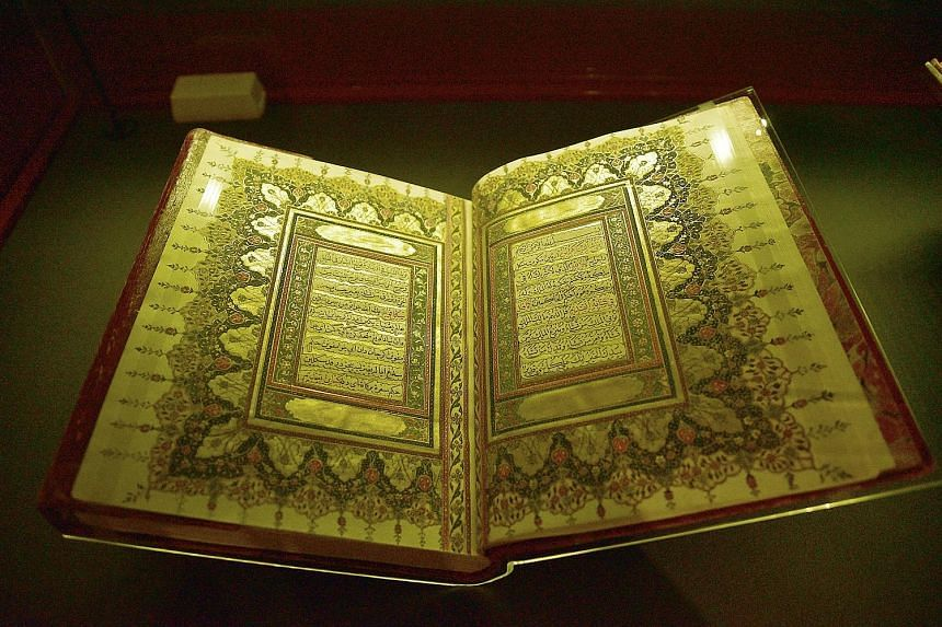 A 19th-century copy of Taj Al-Salatin, or The Crown Of Kings, from the British Library is on display at Tales Of The Malay World: Manuscripts And Early Books.