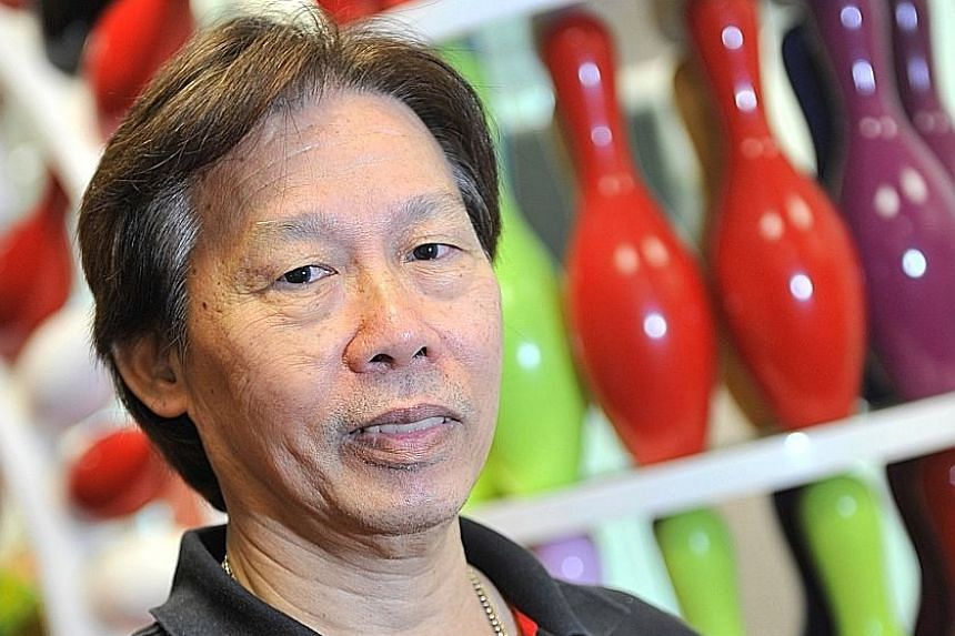 The late bowling coach Henry Tan, who first coached Cherie Tan when she was 13.