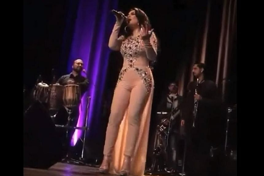 Singer Aryana Saeed is no stranger to controversy. In May, conservative Afghans complained that her outfit at a sold-out concert in Paris (above) made her look nude.