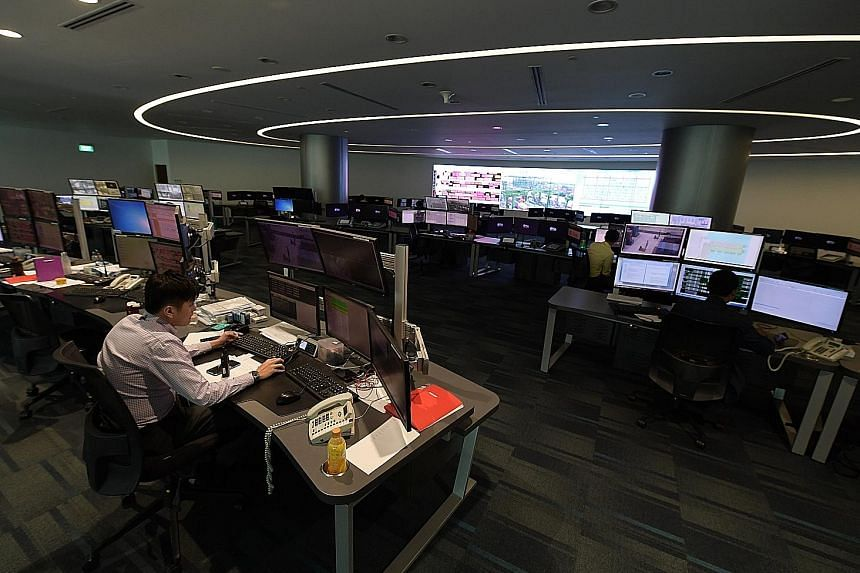 The Automated Crane Operations Centre at Pasir Panjang Terminal, the main South-east Asian hub for shipping lines and major alliances. It is also home to PSA's joint ventures with top carriers CMA CGM, China Cosco Shipping and Mediterranean Shipping Compa