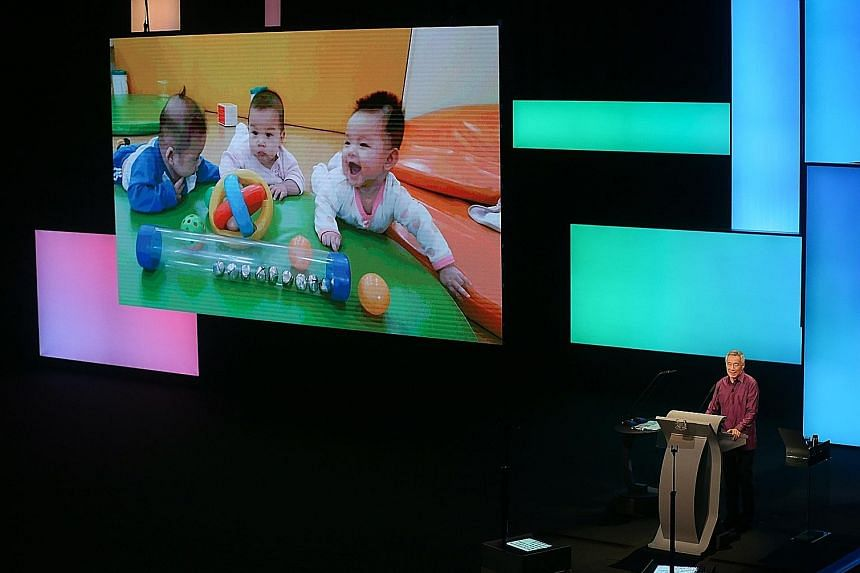 """Speaking at the National Day Rally last night, Prime Minister Lee Hsien Loong said: """"We want every child to go to a good pre-school, so that all children, regardless of family background, have the best possible start in life."""""""