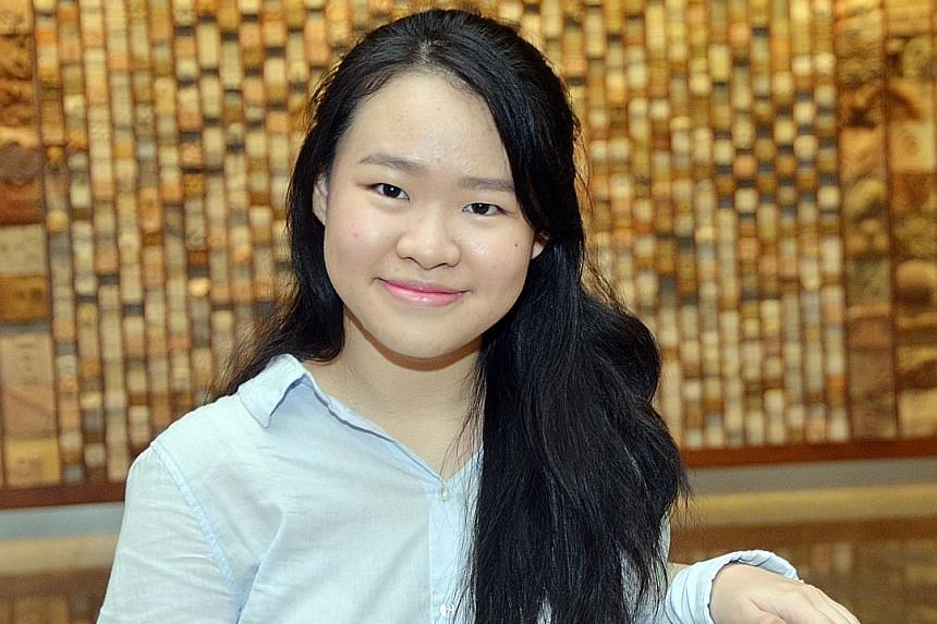 Above: Student Joyce Seah won in the solo singing category.