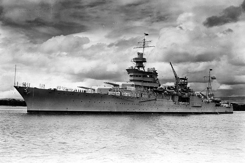 An image released by the US Navy showing the USS Indianapolis in Pearl Harbour in 1937. After the cruiser sank on July 30, 1945, researchers were unable to locate the wreck for decades because of insufficient information. New clues helped a team head
