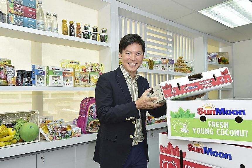 Mr Gary Loh, executive chairman of SunMoon, aims for the company to be a big fruit trading and distribution player by being asset-light and customer-centric, and tapping technology. It distributes a growing list of produce and is targeting vegetables