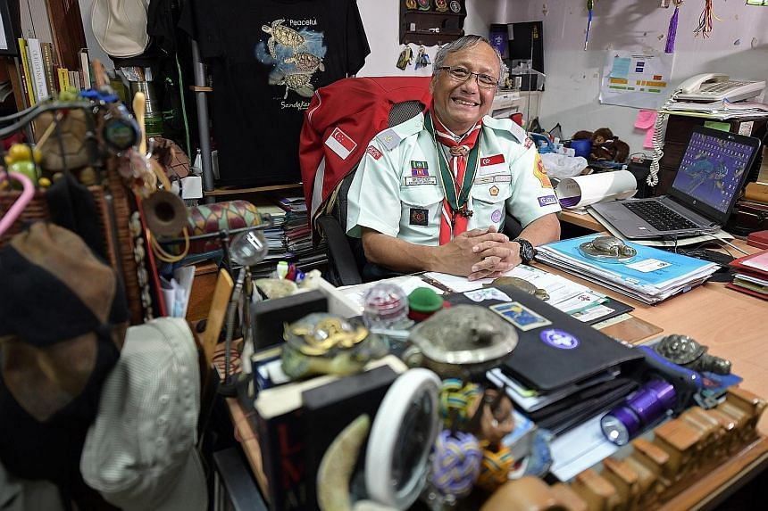 """Singapore Scout Association executive director Mohd Effendy Rajab, a Scout of 51 years, has served the movement in various capacities. His Bronze Wolf award recognises """"outstanding international services"""" to the World Scout Movement."""