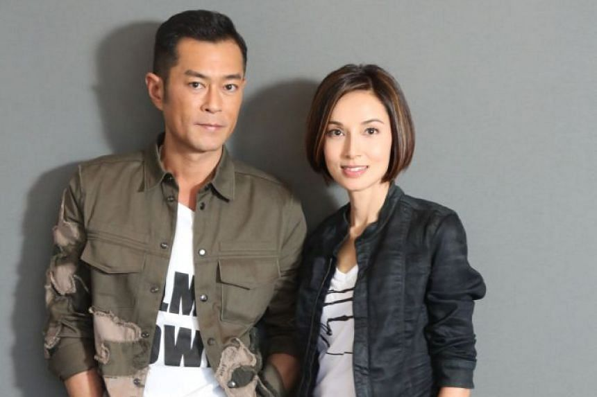 Michelle Saram is back on the big screen for the first time in about a decade. She plays Louis Koo's wife in a new film, Paradox. PHOTO: APPLE DAILY