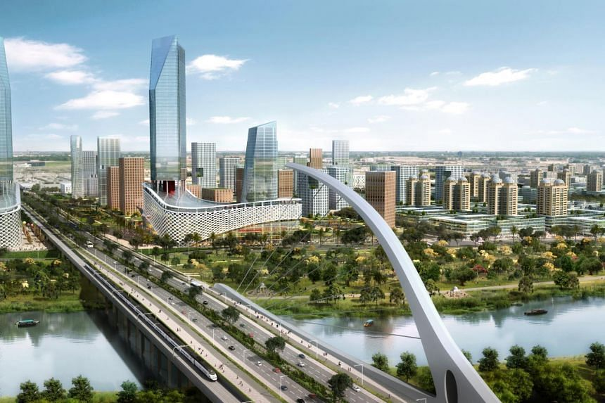 The Singapore Manufacturing Innovation Centre will be located in the Sino-Singapore Guangzhou Knowledge City (pictured) in Guangzhou.