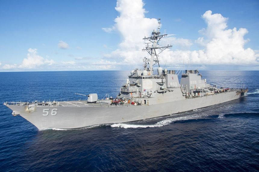 This image released by the US Navy shows the Arleigh Burke-class guided-missile destroyer USS John S. McCain on June 14, 2017.
