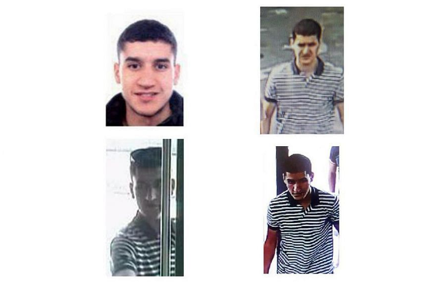 Pictures released by the Spanish police showing suspect Younes Abouyaaqoub, who allegedly drove a van through crowds in Barcelona.