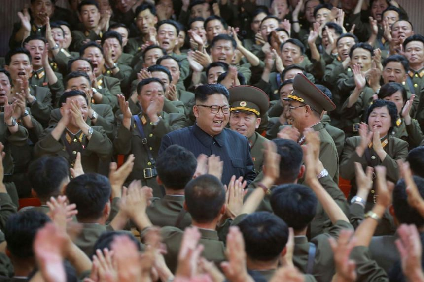 North Korean leader Kim Jong Un at a military inspection in an undated photo.