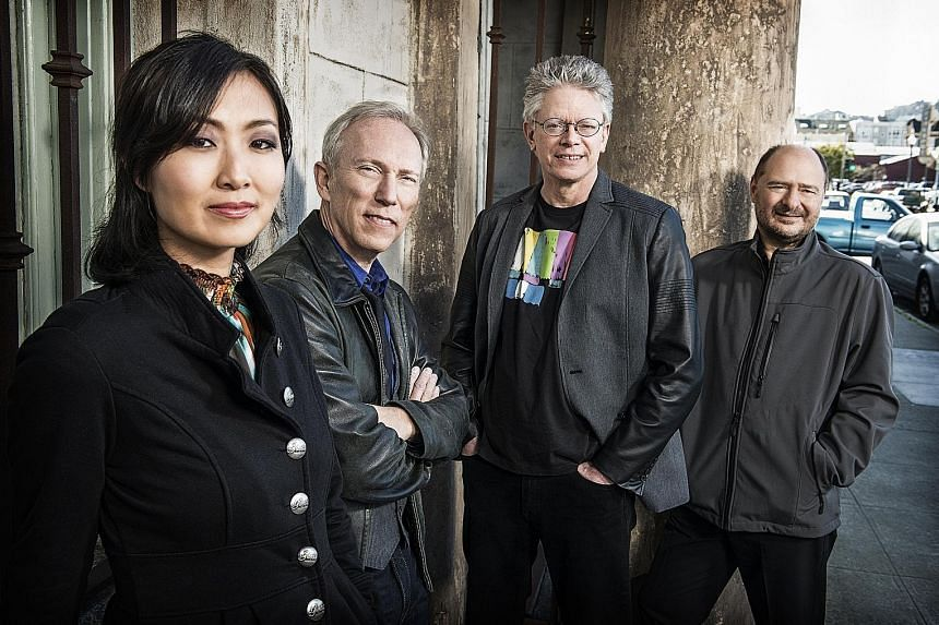 The Kronos Quartet comprises (from left) cellist Sunny Yang, violist Hank Dutt and violinists David Harrington and John Sherba.