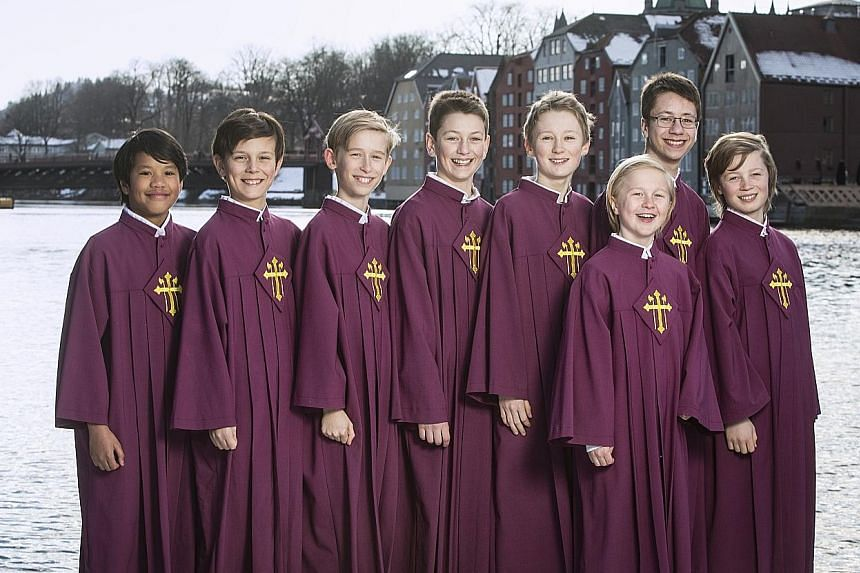 The 900- year-old Nidaros Cathedral Men and Boys' Choir from Norway performs at the Esplanade in October with Singapore's re:Sound Chamber Orchestra.