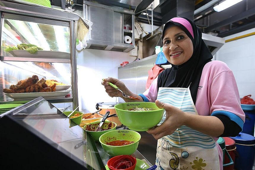 Madam Salama Salim uses less salt and preservatives in her dishes, and welcomes requests from customers who ask for even less salt and gravy at her food stall in Our Tampines Hub.