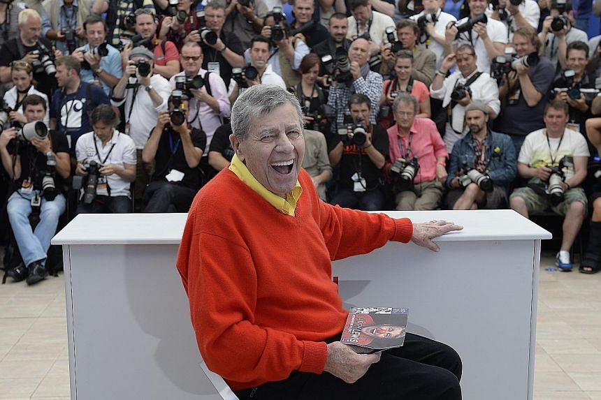 Jerry Lewis (above) made more than 50 films, including The Nutty Professor (with Stella Stevens), as well as countless club and television appearances. He made 16 films with Dean Martin before they broke up as a duo. They did not speak for 20 years until