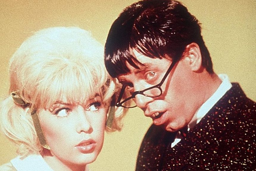 Jerry Lewis made more than 50 films, including The Nutty Professor (above, with Stella Stevens), as well as countless club and television appearances. He made 16 films with Dean Martin before they broke up as a duo. They did not speak for 20 years until F