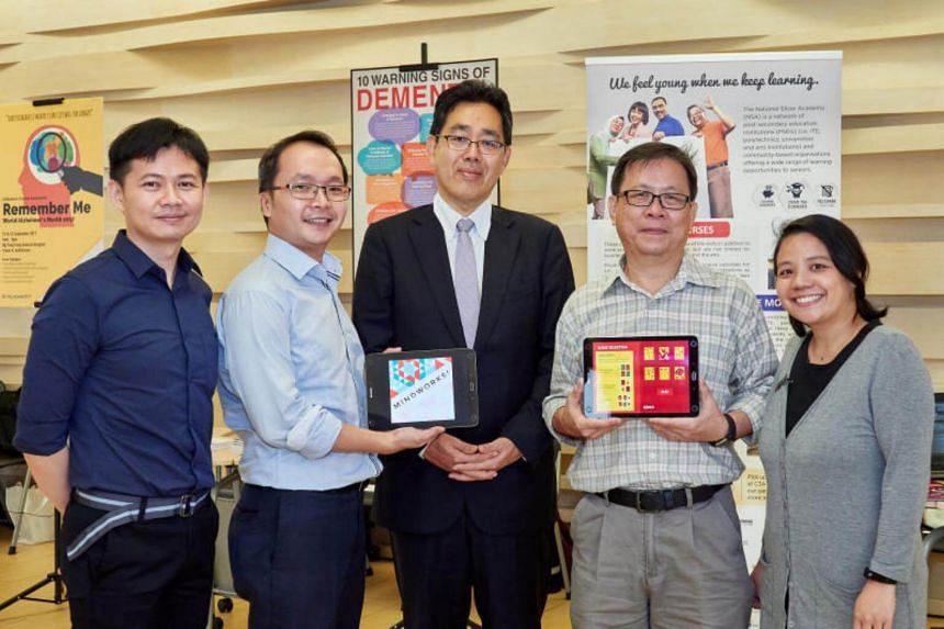 MindWorks, the set of six brain training games was launched on Tuesday (Aug 22) at Temasek Polytechnic's (TP) Ageing Symposium 2017, held on the school's campus in Tampines.