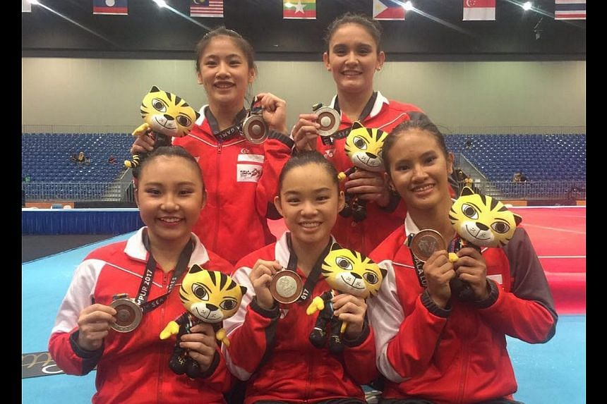 Singapore's artistic gymnastics team retained their silver medal on Aug 21, 2017.