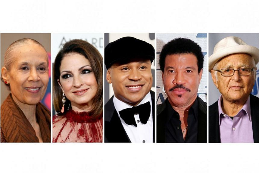 This year's Kennedy Center honourees include (from left) dancer Carmen de Lavallade, singer Gloria Estefan, hip-hop artist LL Cool J, singer Lionel Richie and television writer and producer Norman Lear.