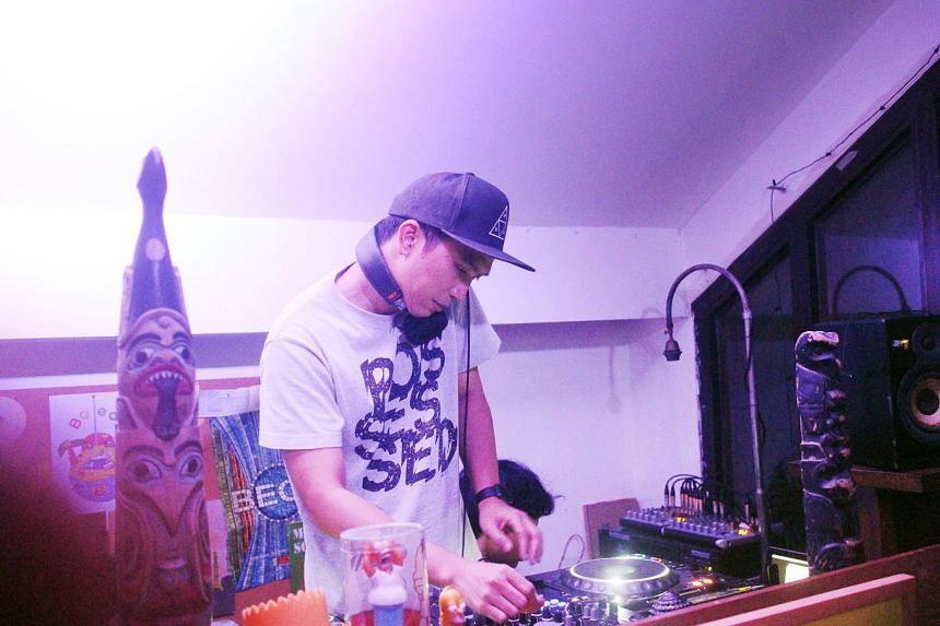 A DJ performance at UP creative space in the posh Dharmawangsa area of South Jakarta.