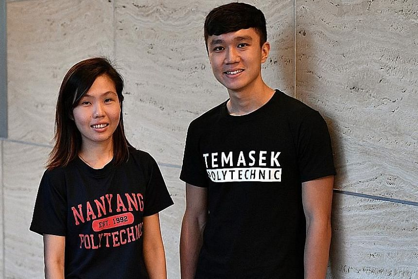Ms Seow Mei Poh graduated last year among the top 5 per cent of her nursing cohort in Nanyang Polytechnic, while Mr Samuel Ng is among the top students in the game design course in Temasek Polytechnic.
