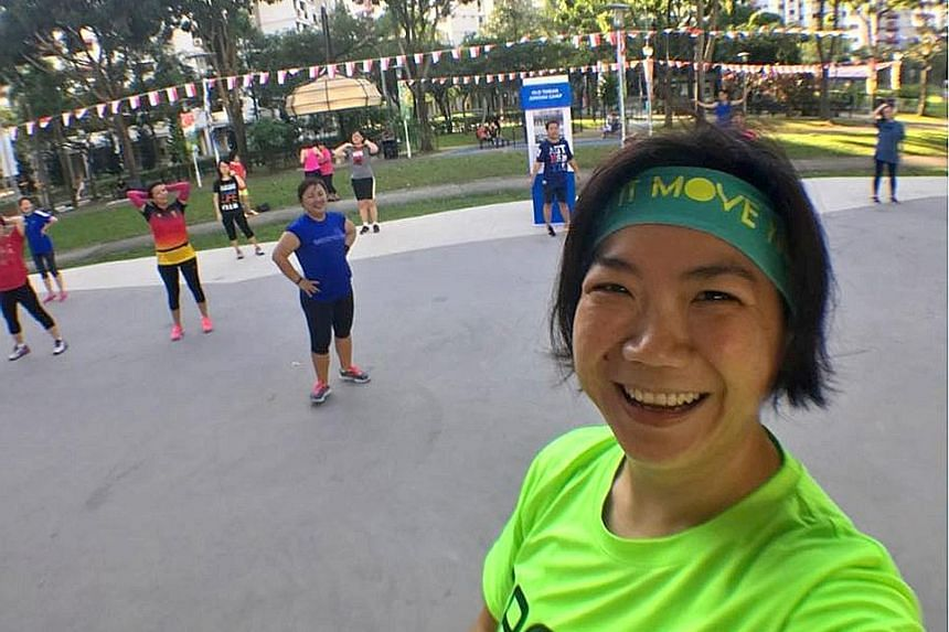 Ms Sim Hui Churn quit her job as a lab supervisor to become a zumba instructor in February last year. Her interest in exercise also led her to participate in the Health Promotion Board's past two seasons of the National Steps Challenge.