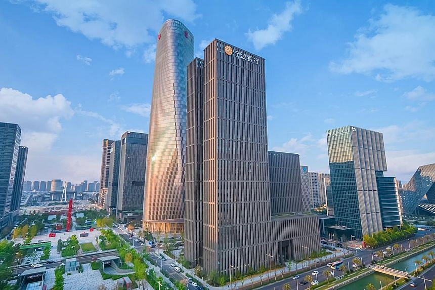 An artist's impression of Bank of Ningbo's headquarters in Ningbo. OCBC says the deal boosts both banks' efforts in growing their businesses and serving the needs of customers in China's Greater Bay Area and South-east Asia.