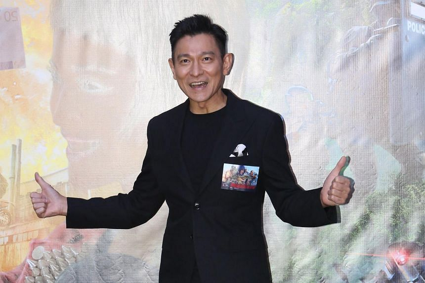 Andy Lau at the premiere of The Adventurers in Hong Kong on Aug 22, 2017.